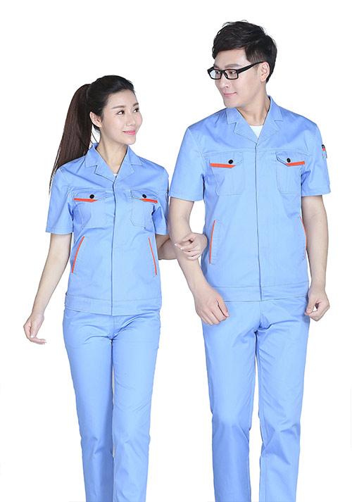 短袖工作服定制5