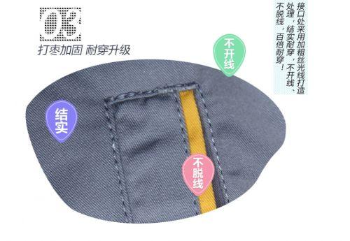 夏季涤棉细斜短袖工服FY623