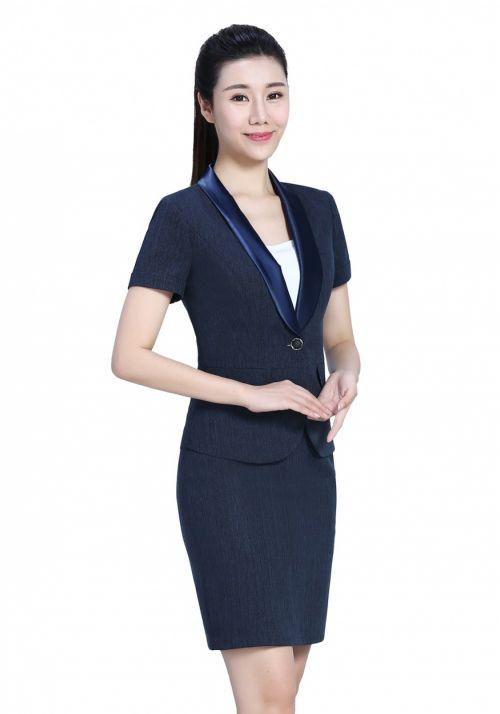 深蓝色女士职业套装FX08