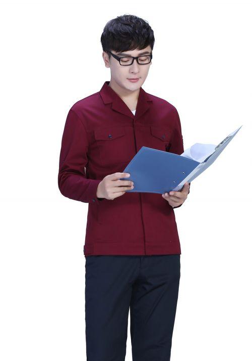 新款藏蓝色春秋工作服FY8001